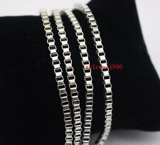 5pcs in bulk Stainless steel Square Box Link Necklace Fashion Jewelry 2.4mm 24''