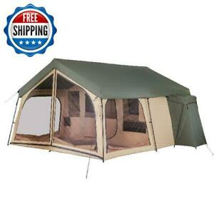 Large Tent Camping Outdoor Family 2-Room Cabin Screen 14-Person Shelter Backyard