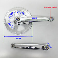 38T 200mm Universal Road Bike Bicycle Crank Single Gear chainring Crankset