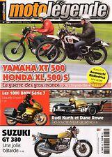 MOTO LEGENDE 282 YAMAHA XT 500 XLS HONDA SUZUKI GT 380 BMW R100/7 AERMACCHI 250
