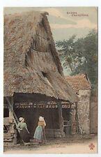 AGRICULTURE CAMPAGNE scenes champetres vie agricole coin de ferme toit de chaume