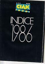 INDICE 1986 - SUPPL. A CIAK SI GIRA N:2/1987 - SILVIO BERLUSCONI EDITORE