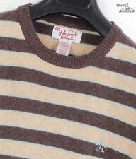Penguin Merino Wool/Cashmere Blend Striped Crewneck Sweater Sz. XL