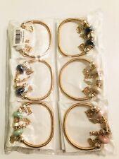 Wholesale 12 Pcs Lots Mix Color Random Style Charms  Beads Bracelets Bangle Set