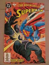 Adventures of Superman #497 Doomsday 9.4 Near Mint DC Comics