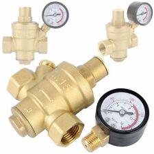 """DN15 1/2"""" Soupape Réducteur de Pression D'eau Réglable Avec Jauge Pressure Gauge"""