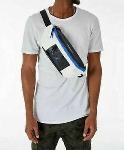 Nike Air Jordan Fanny Pack Waist Hip Bag Crossbody White Black Blue 9A0188-459