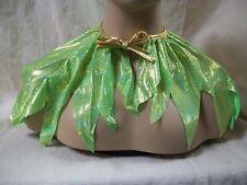 Green Pixie Cape Costume Capelet Fairy Collar Tinker Bell Renaissance Forest Elf