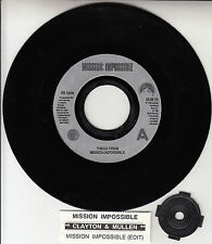 """LARRY MULLEN & ADAM CLAYTON  Theme From Mission Impossible U2 7"""" 45 record RARE!"""