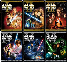Star Wars DVD Trilogy Complete Saga Own All 6 Widescreen Movies on 9 Discs (NEW)