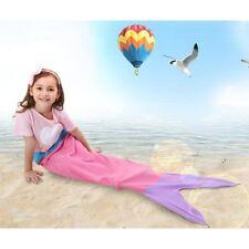Kids Fleece Cocoon Mermaid Tail Blanket Bedroom Sofa Beach Quilt Rug Home Cosy