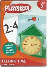 playskool telling time flash cards new 3+ 2011