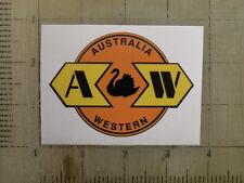 Vintage Railroad Austrailia Western sticker decal