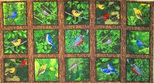 "C1146-01P  WILMINGTON PRINTS ""Nature's Song"" 23.5"" x 44"" Panel of Song Birds"