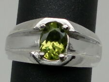 natural peridot men's silver ring, all sizes.USA SELLER