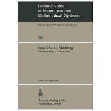 Input-Output Modeling : Proceedings of the Fifth Iiasa (International...