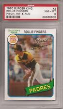 1980 Topps Burger King Pitch/Hit/Run #3 Rollie Fingers (Padres) PSA 8 NM-MT