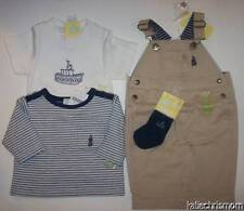 NWT boys 0 3 m Gymboree COTE FRANCAISE 4 pc set overalls 2 tops socks htf gift