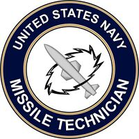 """Navy Missile Technician MT 5.5"""" Die Cut Sticker 'Officially Licensed'"""