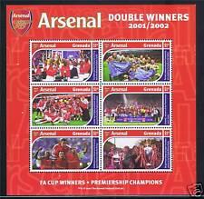 Grenada 2002 Arsenal Football Club MS SG4809 MNH