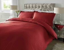 Hotel Quality Luxury Satin Stripe Duvet Cover Single Double King Size Bedding