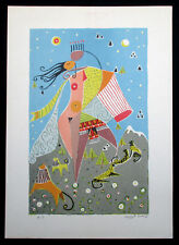 """1976 Limited Edition Lithograph """"Song of Songs"""" Hand Signed - Tamari Amiram"""