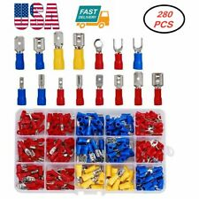 280pcs Assorted Crimp Spade Terminal Insulated Electrical Wire Connectors Kit Us