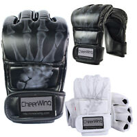 MMA UFC Sparring Grappling Boxing Fight Punch Ultimate Mitts Leather Gloves