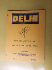 TELEVISION ANTENNAS SALES CATALOG DELHI ONT METAL PRODUCTS LIMITED CANADA 1959