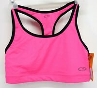 New Champion C9 Compression Bra Pink Med Support Crossfit Gym Solid Run Large
