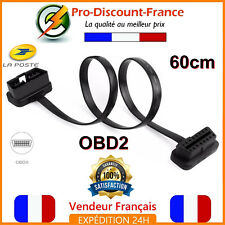 Câble Rallonge OBD2 Voiture ODB2 Prise Diag Diagnostique 60cm Adaptateur ELM327