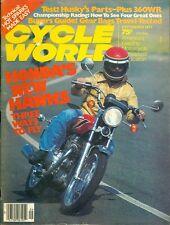1977 Cycle World Magazine: Honda Hawks/Husky Parts 360WR/Gear Bags Tested