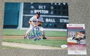 "Wade Boggs ""HOF 05"" Signed Boston Red Sox 8x10 Photo + JSA witness COA WIT624732"