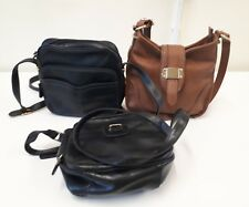 3 X M & S Marks and Spencer Handbags 2 X Black 1 X Brown