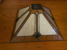 "Vintage Tiffany Style Stained Glass Square Pendant Lamp Shade 17"" Long x 10""Tall"