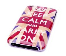 Schutzhülle f Apple iPhone 3GS 3G Tasche Case England GB UK Keep Calm carry on