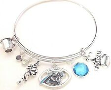 Carolina Panthers Football Bangle Charm Bracelet NFL Expandable QUALITY USA