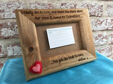 Personalised Wooden Photo Frame Godmother Godfather Godparents Thank You