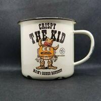 Vintage 24oz. M&M Rodeo Roundup Crispy the Kid Metal Cup/Mug Las Vegas