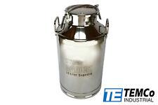 Temco 50 Liter 1325 Gallon Stainless Steel Milk Can Wine Pail Bucket Tote Jug