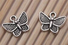 Wholesale 300PCS Tibetan silver Crafts Butterfly Jewelry Making Charms Pendants