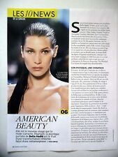 COUPURE DE PRESSE-CLIPPING : Bella HADID American Beauty  07/2016 Top Model