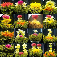 16 different HANDMADE BLOOMING TEA,Artistic flowering Green Flower ball,FREE P&P