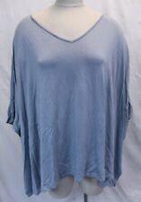 Marla Wynne Women's Layer V-Neck Cropped Shirt BE9 Gray Size UK:2X US:1X NWT