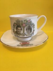 Commemorative Cup and Saucer Marriage of Prince Charles and Lady Diana 1981