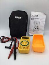 Extech Instruments Minitec Series Multimeter Voltage Detector Model Mn24 Used