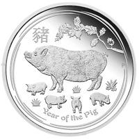 2019 Australia PROOF Lunar Year of the Pig 1/2 oz SIlver 50c half dollar Coin