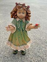 "DOLFI SANTINI Carved Wood ROSE CROWN #35of 500 Italy Doll Statue RARE 17""❤️tb11j"