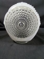 White clear glass old light fixture globe diffuser shade bathroom porch