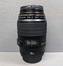 Canon EF 100mm f/2.8 USM MACRO Auto Focus Prime Lens - Excellent!